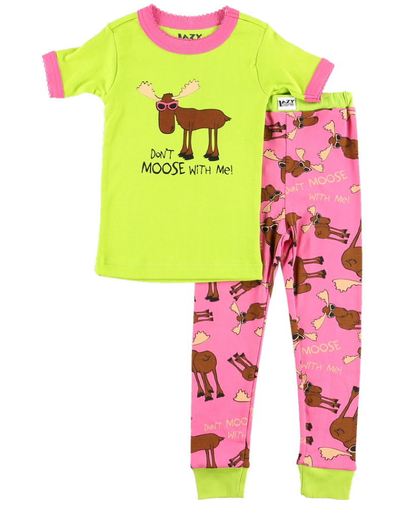 Don't Moose With Me - Girls Short Sleeve PJ Set - Lazy One®